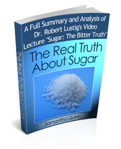 "3D cover for ""The Real Truth About Sugar"""